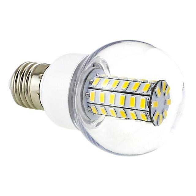 Bulb LED Glob 3000 lm E26 / E27 G60 56 LED-uri de margele SMD 5730 Alb Cald 220-240 V / # / CE / RoHs
