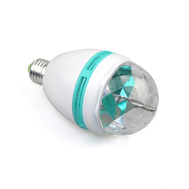 1pc e27 fuldfarve 3w rgb led projektor krystal scene lys magisk bold dj dace part disco effekt pære lampe (110-240v)