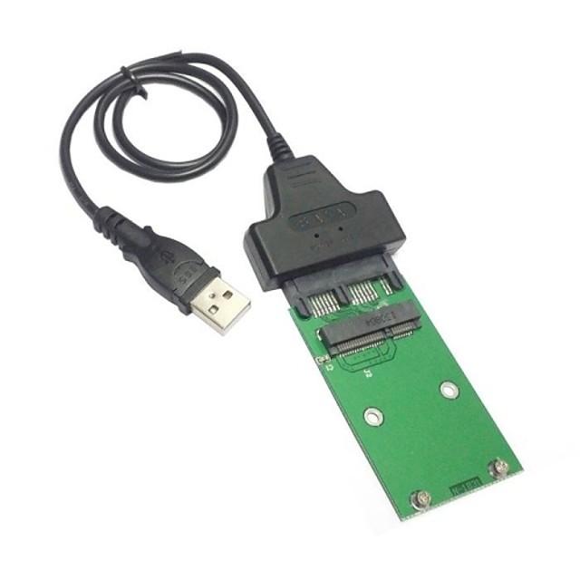 USB 2.0 la mini PCI-E mSATA SSD la 1.8