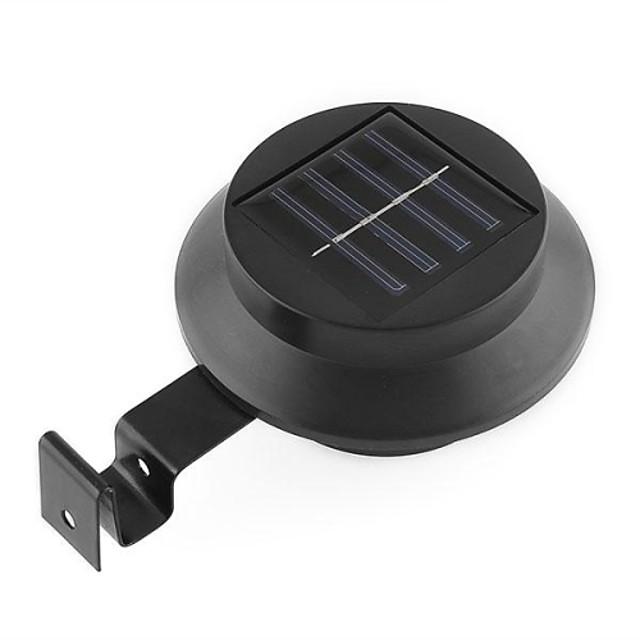 negru solare de putere cu reglaj electric alb lumina casa lampă curte gard cu 3 LED