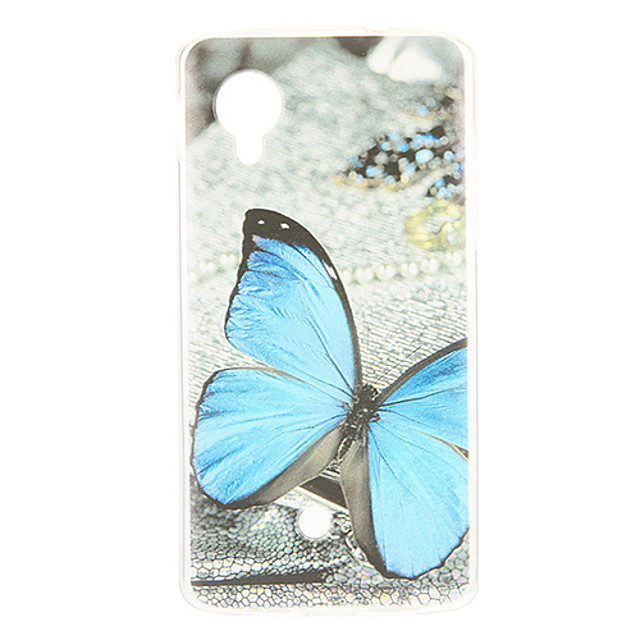 Case For LG Nexus 5 / LG Pattern Back Cover Butterfly Soft TPU