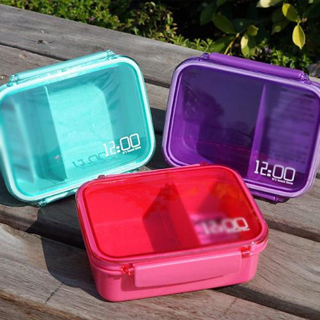 Single Tier Small Sealed Boxes Sushi Box (Random Color)