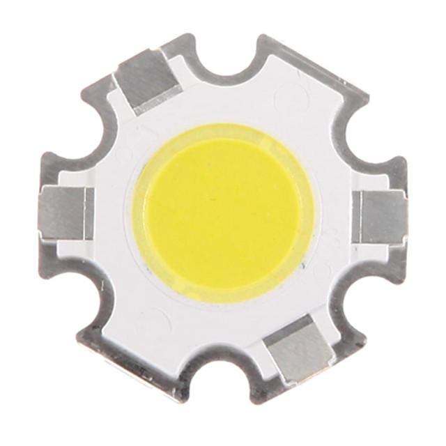 zdm 1pc 3w 280-350lm led alb-negru integrat led / cob bec accesoriu cip silica gel / suprafață luminescentă 10 x 10 mm (dc3.0-3.4v, 300ma)