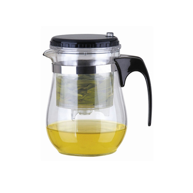 Ușor Push Button Filtru de sticlă ceainic Cu Lock (500ml)