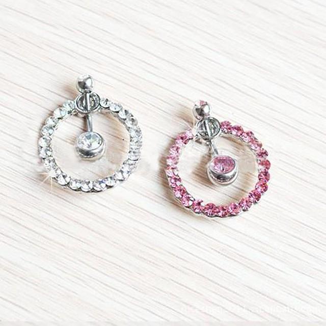 Pentru femei Bijuterii de corp Inel inelar / Piercing pe burta Cristal Alb / Roz Cristal Costum de bijuterii Pentru Zilnic / Casual 3.5*1.8*0.6 cm Vară