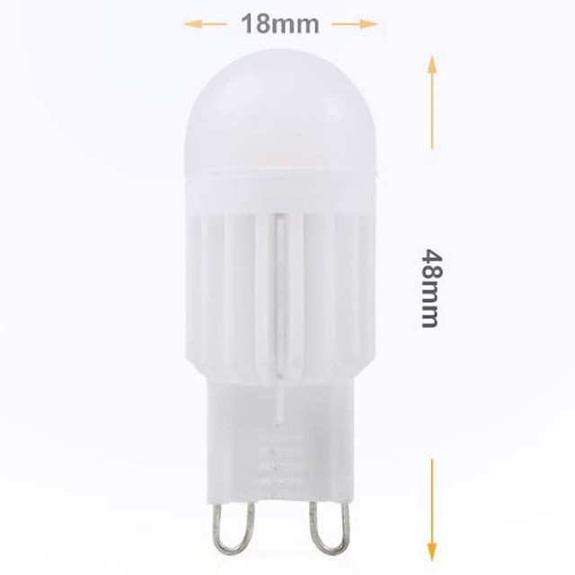 3 W 2-pins LED-lampen 240 lm G9 Verzonken ombouw 2 LED-kralen SMD 5050 Decoratief Koel wit 220-240 V / RoHs