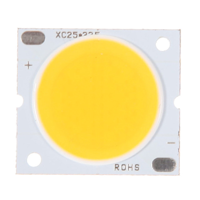 o zdm® 1pc 30w cob integrado conduziu o branco morno 3000-3500k 2800-3000 lm o fio puro luminoso do ouro conduziu o chip conduzido para a superfície luminescente 20mm (dc30-34v 800-900ma)