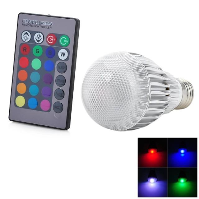 1 buc 5 W Bulbi LED Inteligenți 300-500 lm E26 / E27 1 LED-uri de margele LED Integrat Telecomandă Decorativ culoare Gradient RGB 85-265 V / RoHs