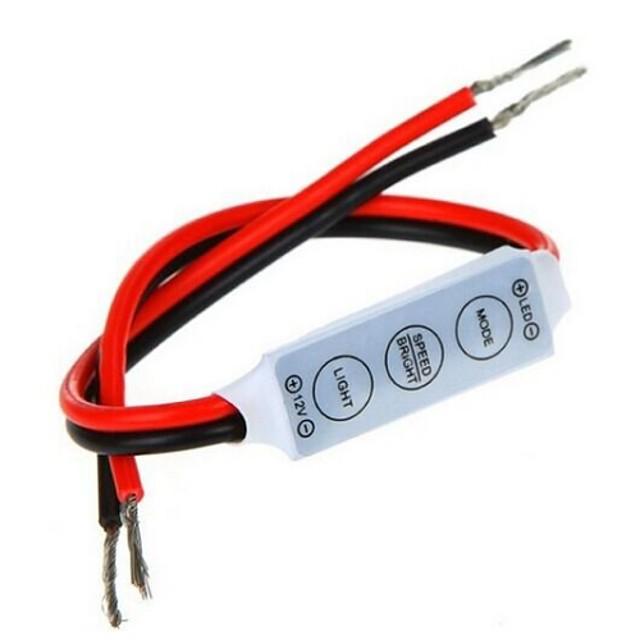 mini controler dimmer 3 chei pentru 5050 3528 culoare unică a condus benzi de lumină (12v 6a)