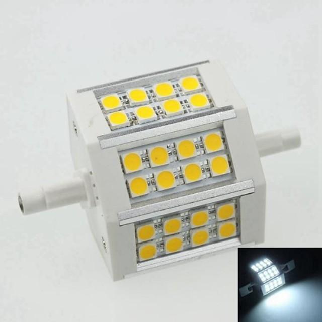 SENCART 1 buc 8 W Spoturi LED 500 lm R7S 24 LED-uri de margele Alb Natural 100-240 V