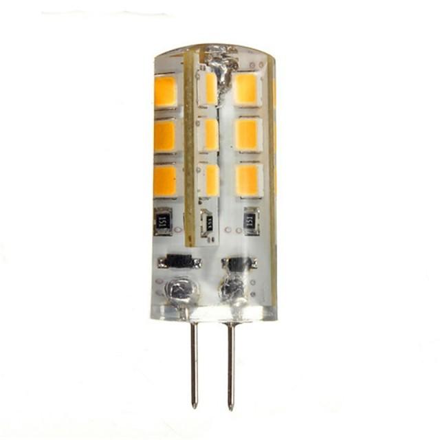 1.5 W Becuri LED Bi-pin 130-150 lm G4 24 LED-uri de margele SMD 2835 Alb Cald 12 V / CE / RoHs