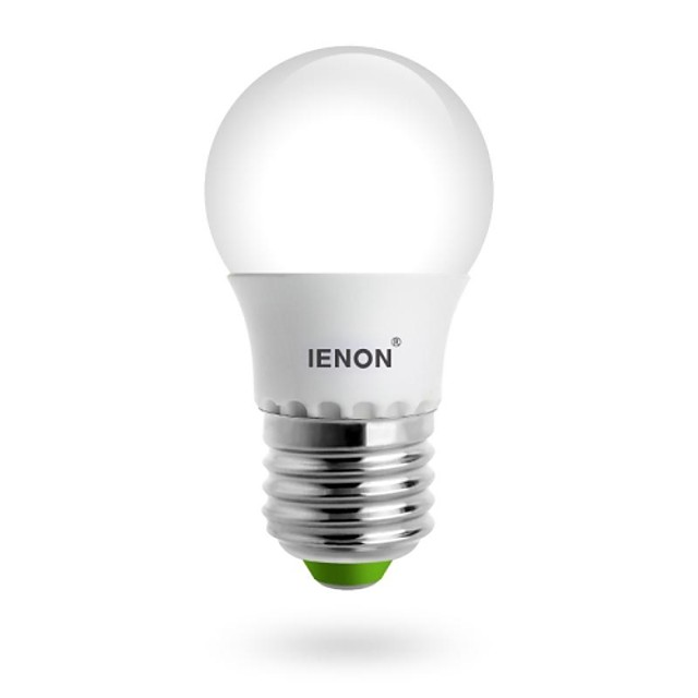3 W Bulb LED Glob 240-270 lm E26 / E27 G60 LED-uri de margele SMD Alb Cald 100-240 V / RoHs / GS