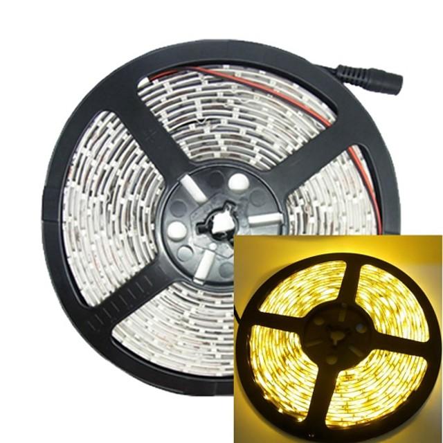 5m 30W 300led 3528SMD 635-700nm DC12V IP68 benzi de lumină rezistent la apa de culoare galbenă