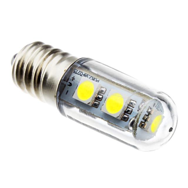 1 W Becuri LED Corn 60 lm E14 7 LED-uri de margele SMD 5050 Decorativ Alb 220-240 V / RoHs