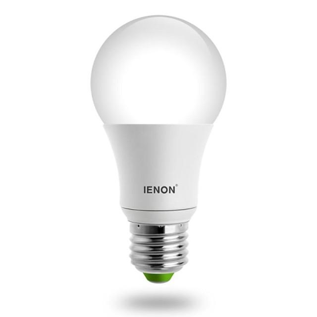 IENON Bulb LED Glob 560-630 lm E26 / E27 A60(A19) LED-uri de margele COB Alb Cald 100-240 V / RoHs / GS