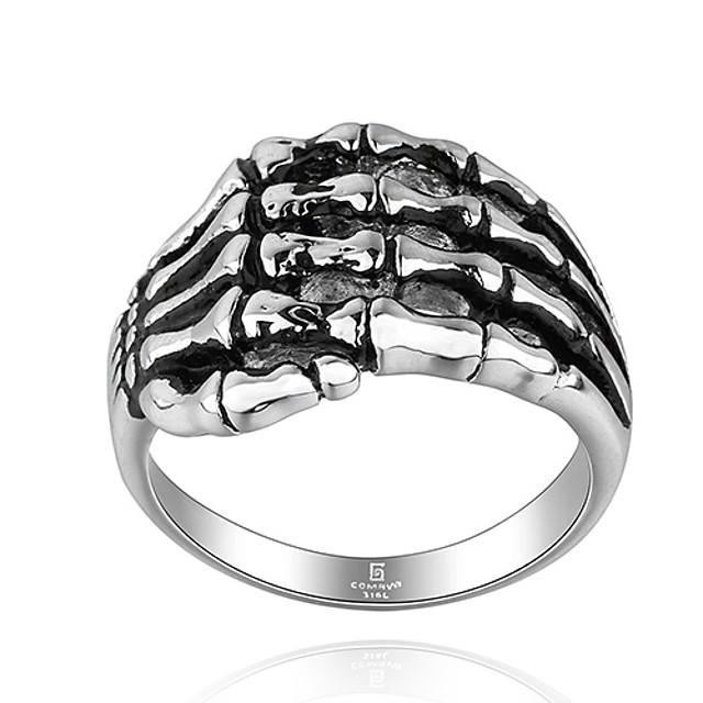 Bărbați Inel de declarație 1 buc Argintiu Oțel titan Modă Cadouri de Crăciun Petrecere Bijuterii
