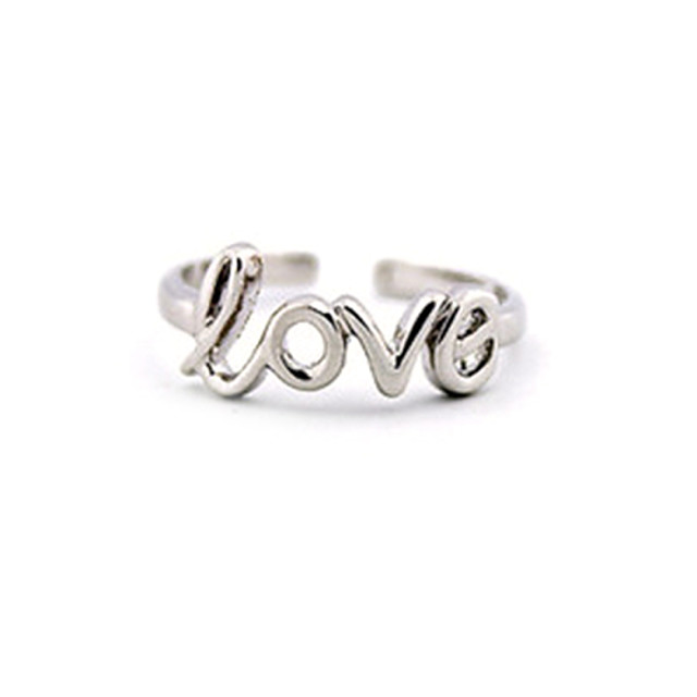 Inel pentru degetul de la picior femei Design Unic European Pentru femei Bijuterii de corp Pentru Zilnic Casual Monograme Aliaj Iubire Auriu Argintiu 1 buc