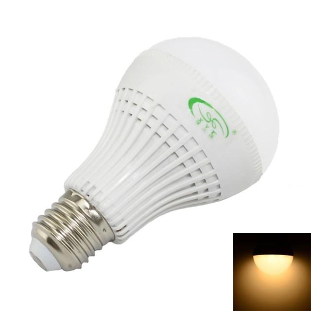 Bulb LED Glob 600 lm E26 / E27 A60(A19) 27 LED-uri de margele SMD 3528 Decorativ Alb Cald 85-265 V