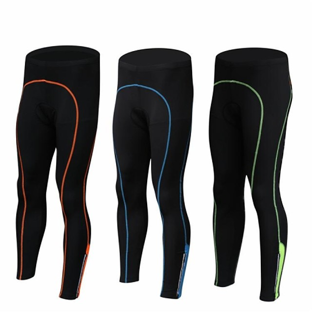 Bărbați Spandex Bicicletă Pantaloni Dresuri Ciclism Respirabil Uscare rapidă Sport Negru / Portocaliu / Negru / Verde / Negru / Albastru Ciclism stradal Îmbrăcăminte Potrivire lejeră Îmbrăcăminte