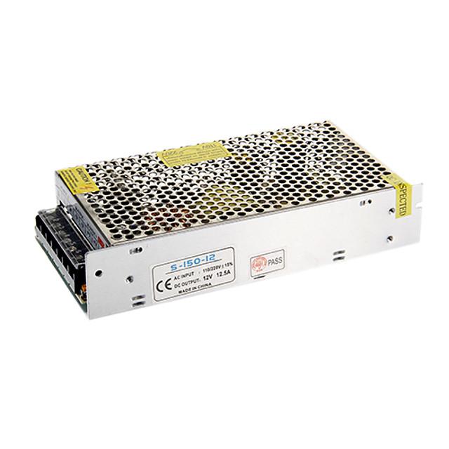 zdm 1pc เอาต์พุต 12v dc 12.5a สูงสุด 150w watt สูงสุด ac / dc switching power supply converter (ac110-220v to dc12v)