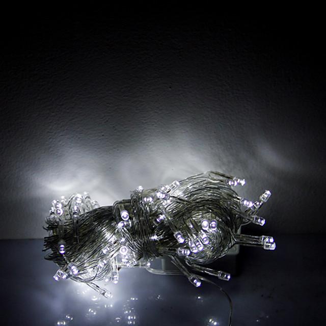 10m 100 LED-uri lumini decorative de Halloween lumini festive benzi-ordinare lanț de lumină albă (220V)
