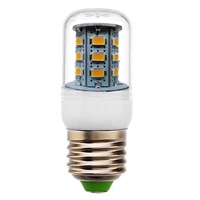 Becuri LED Corn 350 lm E26 / E27 T 24 LED-uri de margele SMD 5730 Decorativ Alb Cald 220-240 V / RoHs