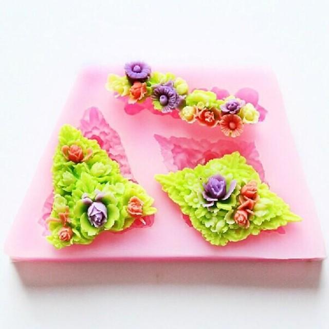 floare de copt tort fondant bomboane de ciocolata mucegai, l8.7cm * w5.2cm * h1.1cm