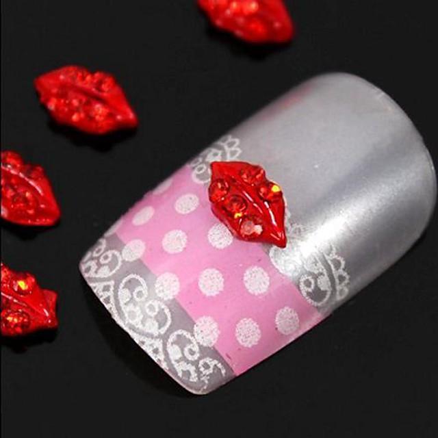 10 pcs MetalPistol Truse de unghii Încântător Fructe Floare Abstract Zilnic Bijuterie unghii pentru deget deget de la picior Other / Desen animat