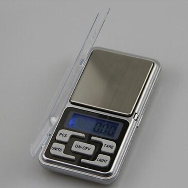 500g 0.1g mini bærbare elektroniske skalaer kjøkken skala skrivebord