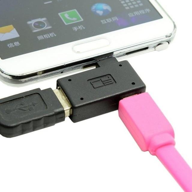 Micro USB Adaptor <1m / 3ft Műanyagok USB kábeladapter Kompatibilitás Samsung