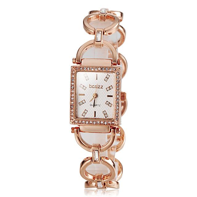 Pentru femei Diamond Watch ceas de aur Piața de ceas Japoneză Oțel inoxidabil Argint / Auriu / Roz auriu Ceas Casual Analog femei Elegant - Roz auriu Auriu Argintiu