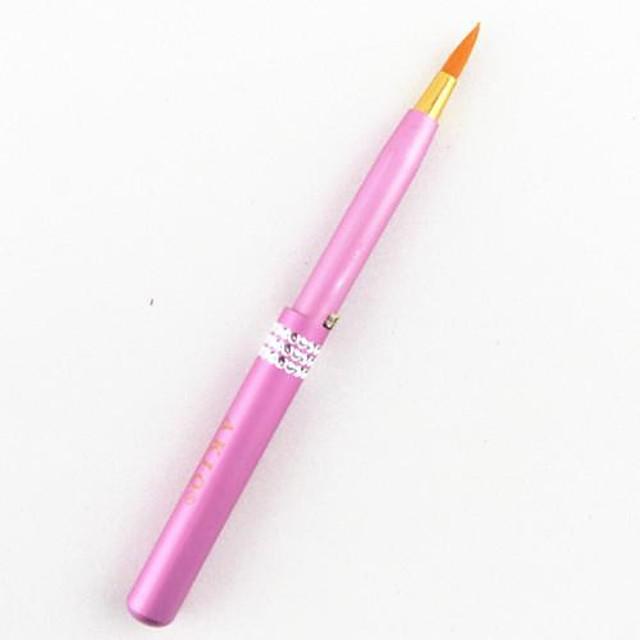 Profesional Machiaj perii Perie Buze 1pcs Păr sintetic Metal Pensule de Machiaj pentru Perie Buze