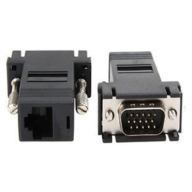 yongwei de mare viteză VGA de sex masculin adaptor rj45 de înaltă calitate, durabil