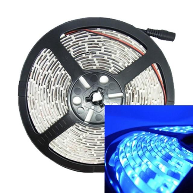 jiawen a condus bandă de lumină 5m 3528smd 60leds / m albastru impermeabil ip65 dc 12v led-bandă condusă de bandă condus acvariu decorațiuni