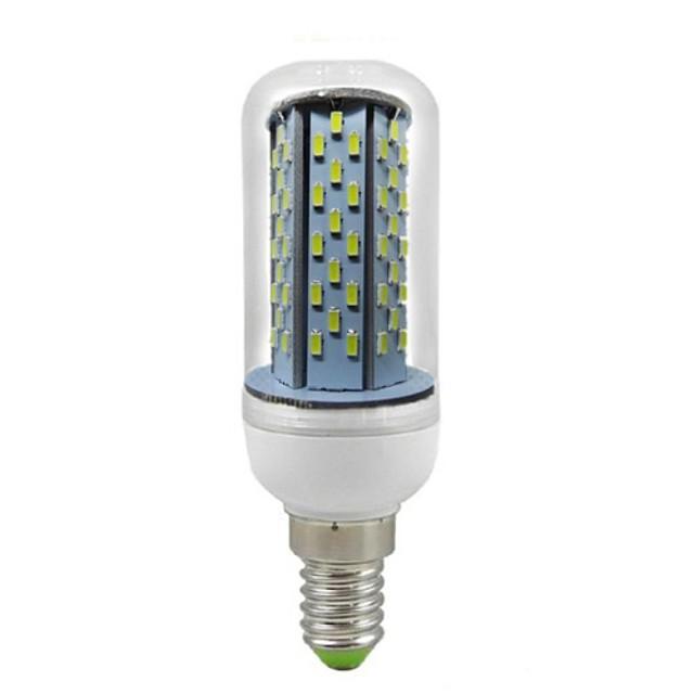 Becuri LED Corn 550 lm E14 T 120 LED-uri de margele SMD 3014 Decorativ Alb Rece 85-265 V / RoHs
