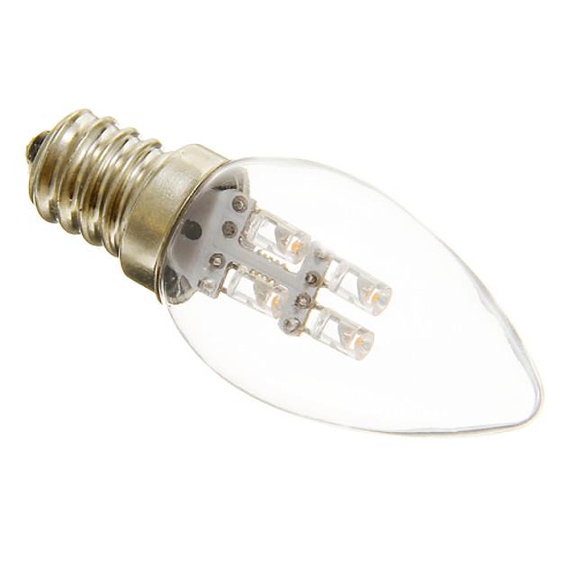 1pc 1 W LED svjećice 15-20 lm E12 C35 4 LED zrnca Božićni vjenčani ukrasi Toplo bijelo Hladno bijelo 220-240 V / RoHs