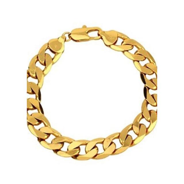 Bărbați Brățări cu Lanț & Legături Figaro lanț Clasic Dubai Articole de ceramică Bijuterii brățară Auriu Pentru Petrecere Casual / Placat Auriu / Placat Auriu