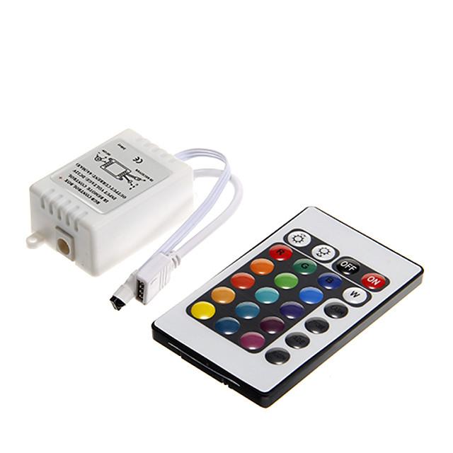 dm 1pc dc 12v 24 telecomandă cu led-uri led cu buton de comandă pentru 3528 5050 smd rgb led flash strip