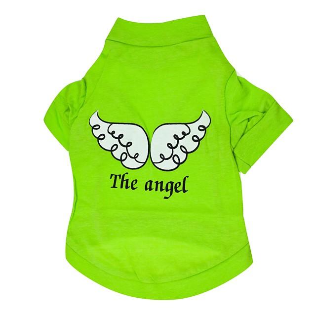 Câine Tricou Înger & Demon Casul / Zilnic Îmbrăcăminte Câini Respirabil Mov Albastru Verde Costume Bumbac XS S M L