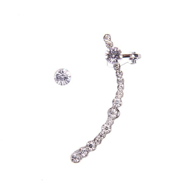 Pentru femei Cătușe pentru urechi femei Ștras Diamante Artificiale cercei Bijuterii Auriu / Argintiu Pentru Nuntă Petrecere Zilnic Casual Sport