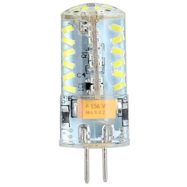 1pc 4w gel siliconic g4 led led 57 smd 3014 ac / dc 12v iluminat de sus pentru candelabru acasa cald / rece rece