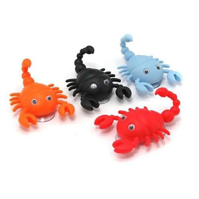 mini drăguț formă scorpion cârlig pothook umeraș capac 2 ventuze