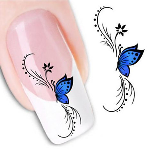 1 Nail Art autocolant Aplicația de transfer de apă Floare Nuntă machiaj cosmetice Nail Art Design