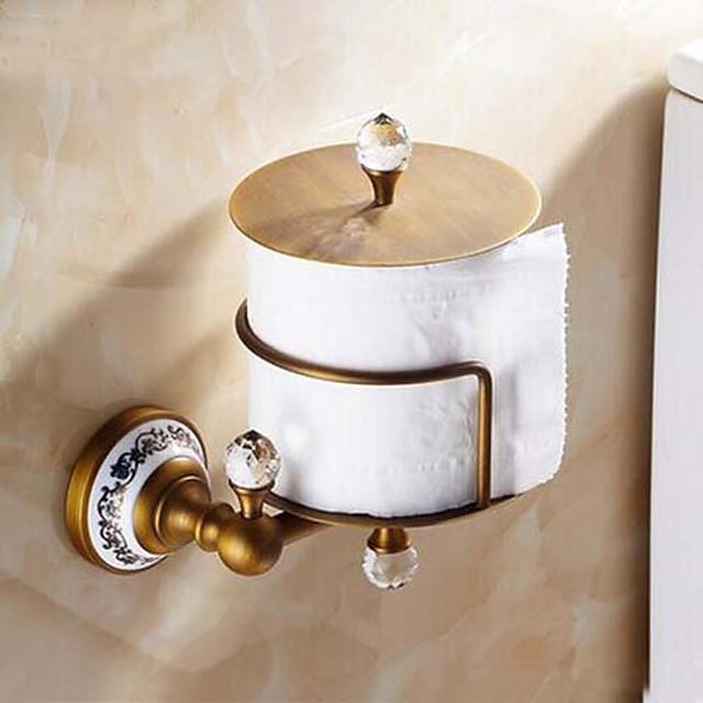 Suporturi De Hârtie Igienică Detașabil Antichizat Alamă / Cristal / Lemn 1 piesă - Hotel baie