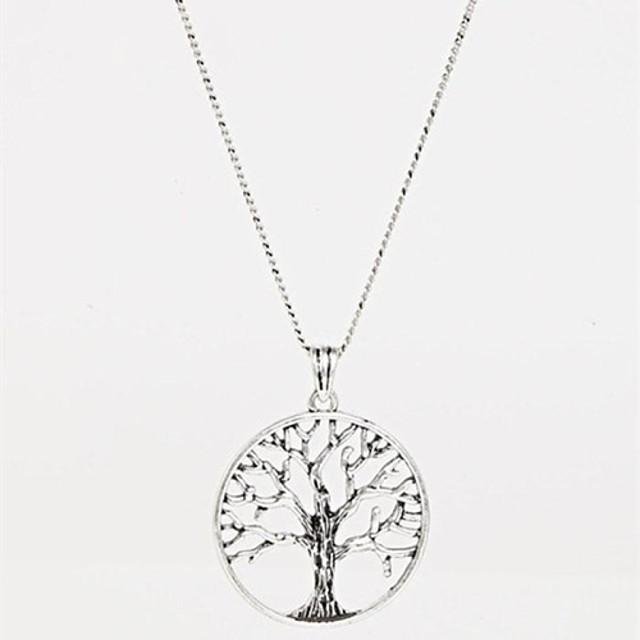 Pentru femei Coliere cu Pandativ Lung Prieteni Copacul Vieții viață copac Prietenie femei Modă Aliaj Argintiu Coliere Bijuterii Pentru Petrecere Zi de Naștere Mulțumesc Cadou Zilnic