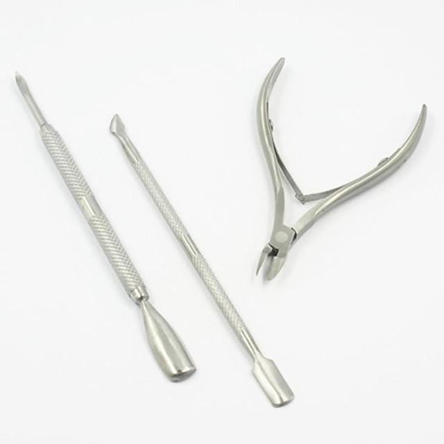 3buc Oțel Instrumente de manichiură pentru unghii Mat Design Unic Clasic Zilnic Unelte pentru unghii Foarfecă Dispozitiv de Îndepartare a Calusurilor & Bătăturilor pentru Unghie Unghie deget picior