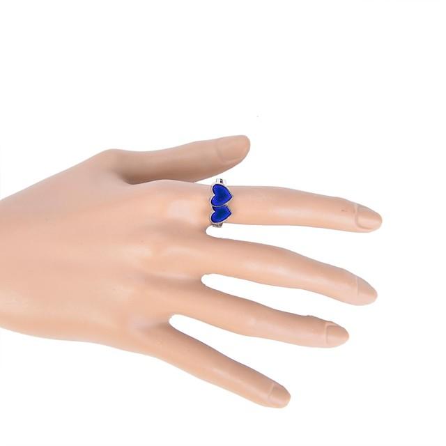 Pentru femei Band Ring Email Aliaj femei Zilnic Casual Bijuterii Inimă Iubire culoare Gradient