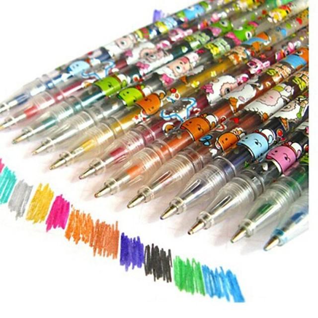 Markeri & Evidențiatoare Stilou Evidențiatoate Stilou, Plastic Roșu Negru Albastru Galben Portocaliu Verde Culori de cerneală For