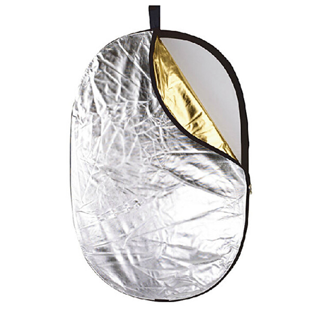JINBEI 92*122cm 5-in-1 Collapsible Photograhpic Gold and Silver Reflector Panel