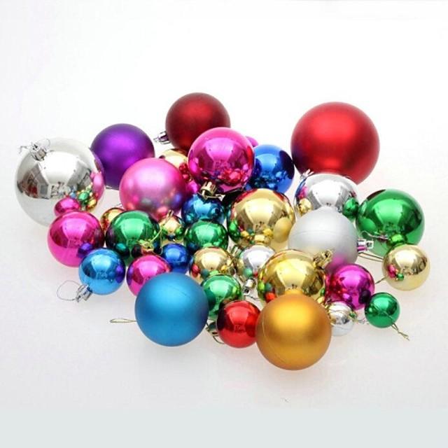 Christmas Decorations Ornamente de Brad de Crăciun Minge Drăguț Încântător Plastic Adulți Băieți Fete Jucarii Cadou 36 pcs